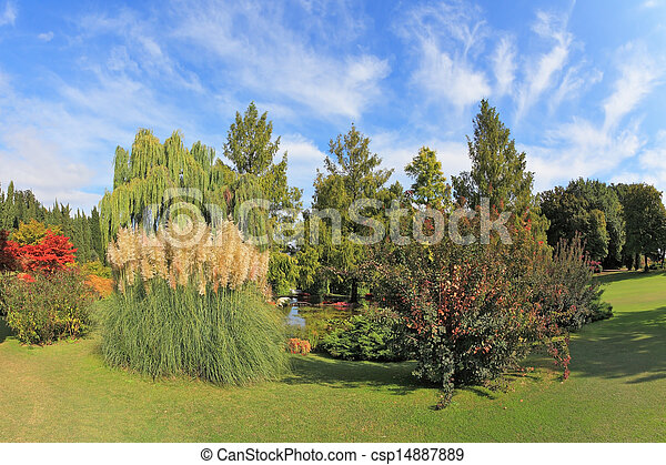 Fabulously beautiful park in northern Italy - csp14887889