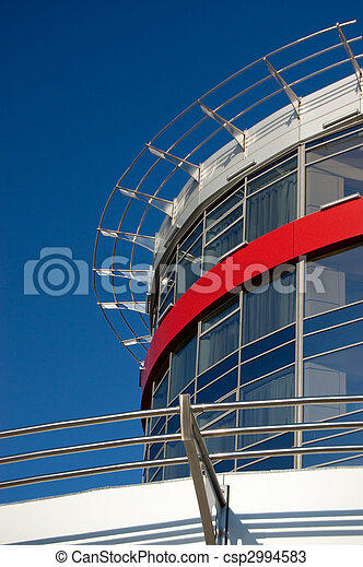 Facade of a modern building against the sky - csp2994583