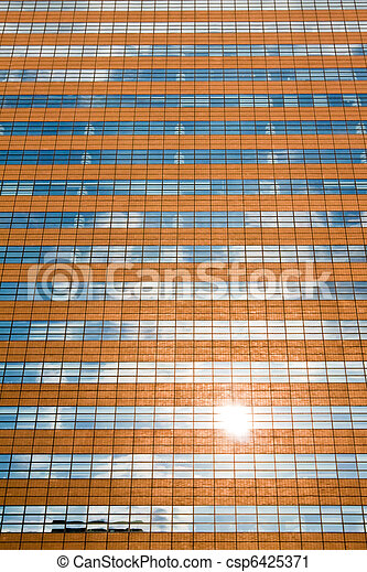 Facade of a modern skyscraper - csp6425371
