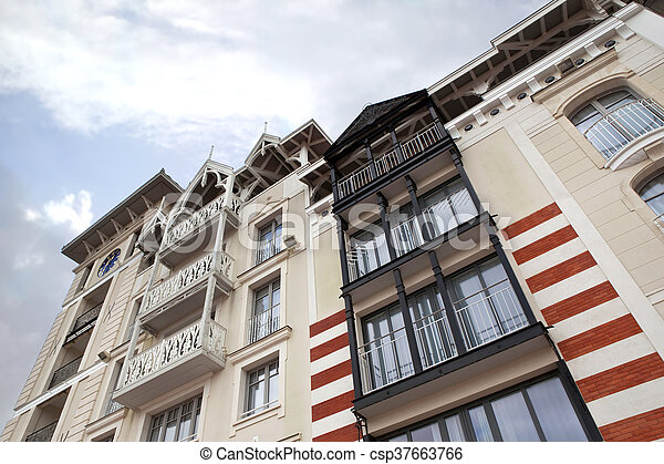 Facade of a residence - csp37663766