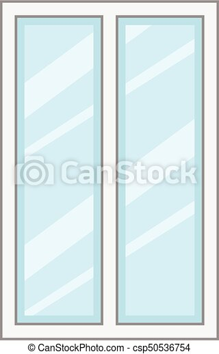 Facade window frame icon, cartoon style. Facade window frame icon ...