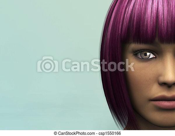 faccia femmina - csp1550166