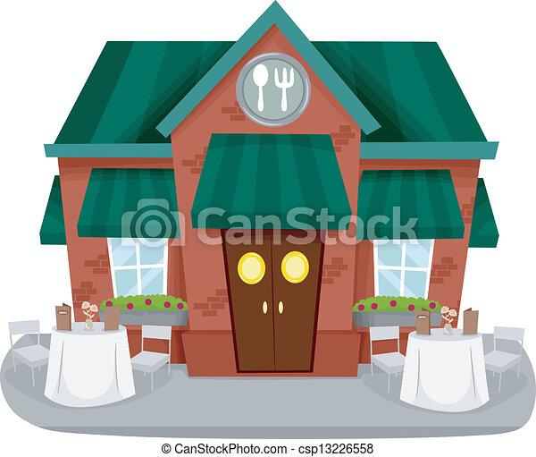 facciata, ristorante - csp13226558