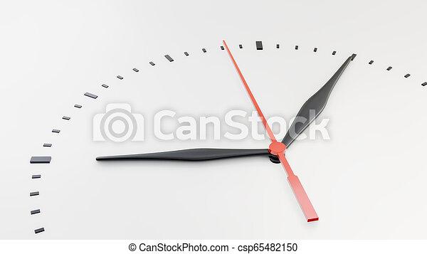 face., άσπρο , απομονωμένος , φόντο , ρολόι  - csp65482150