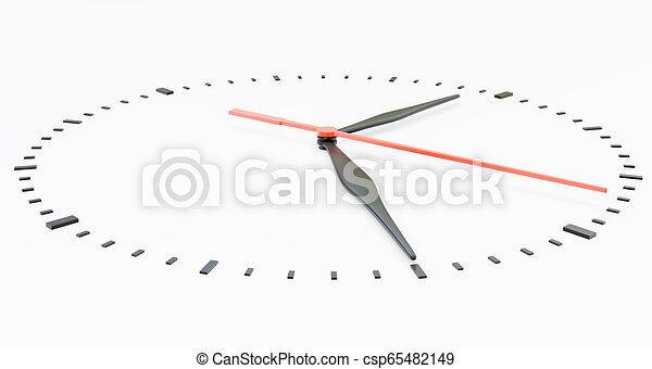 face., άσπρο , απομονωμένος , φόντο , ρολόι  - csp65482149