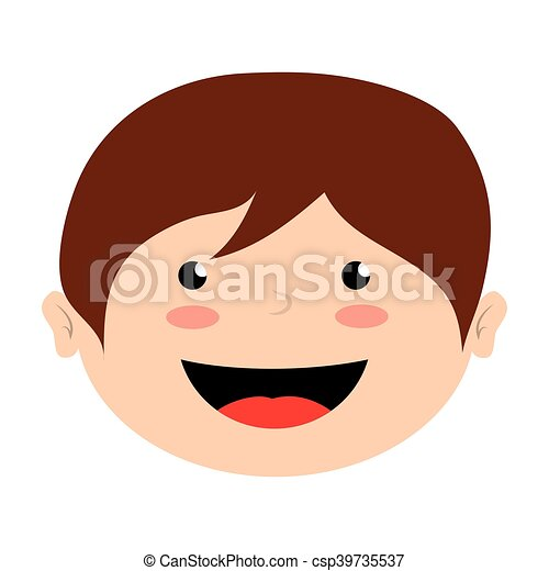 Face Boy Smile Isolated Icon Design Vector Illustration