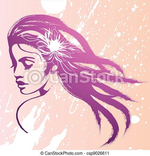face fashion girl  - csp9026611