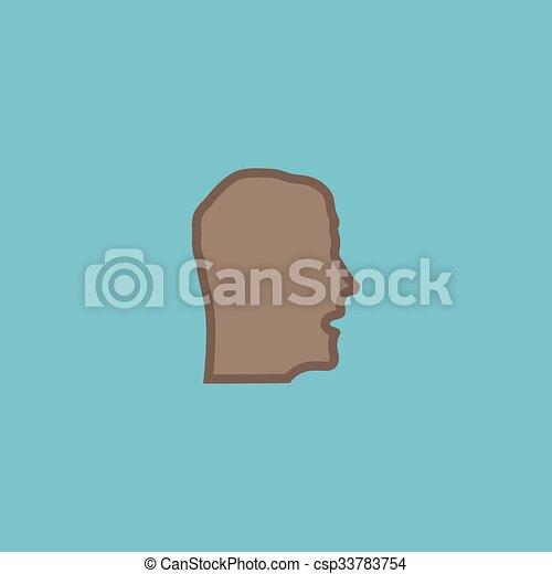 Face flat icon - csp33783754