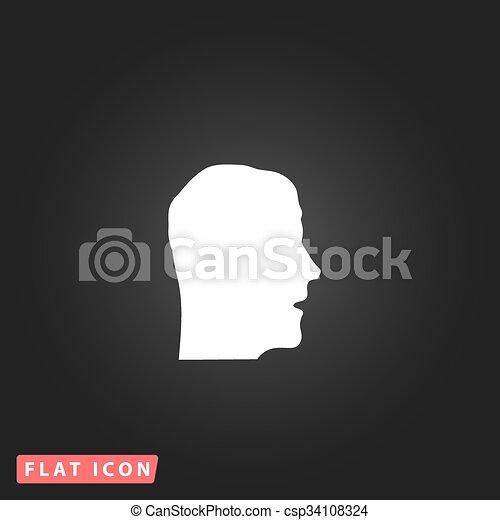 Face flat icon - csp34108324