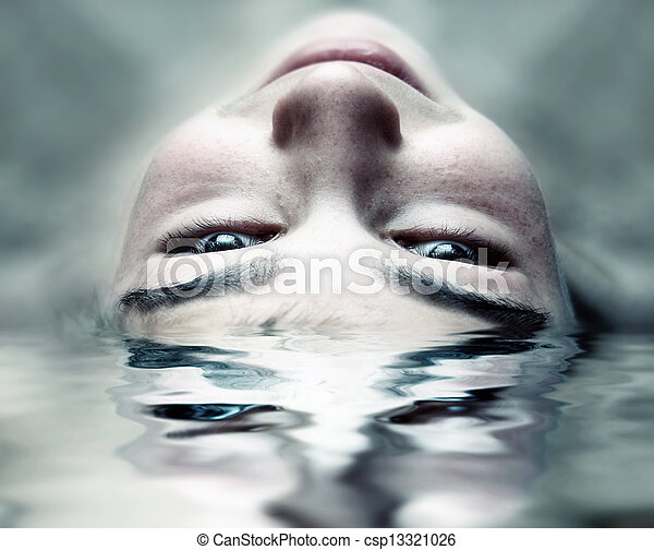 Face in the Water - csp13321026