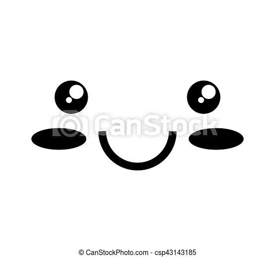 face kawaii style icon - csp43143185