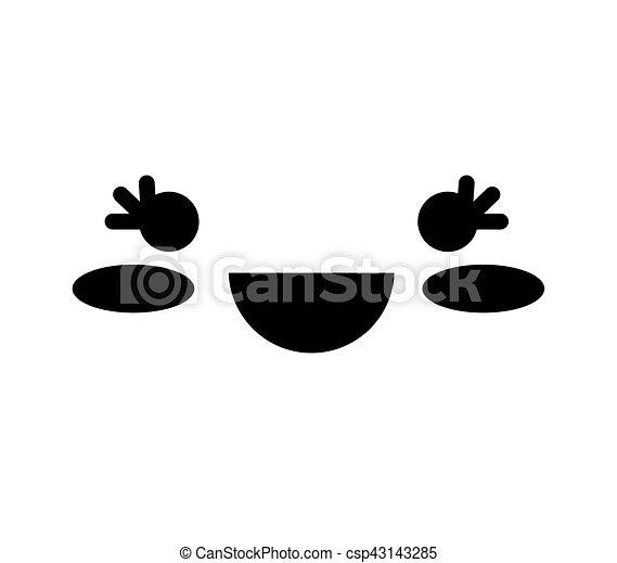face kawaii style icon - csp43143285