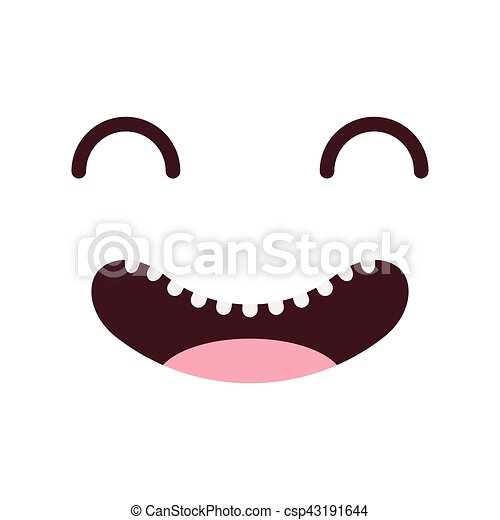 face kawaii style icon - csp43191644