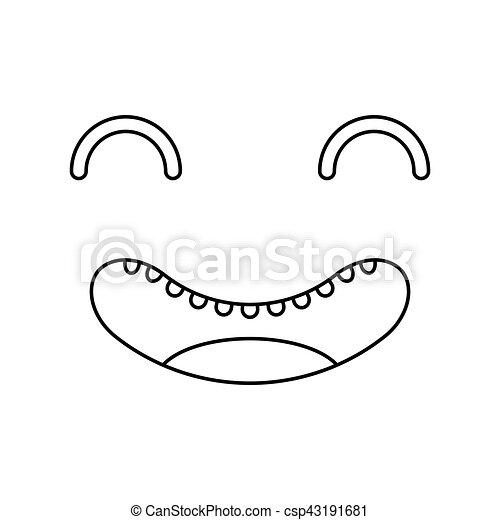 face kawaii style icon - csp43191681