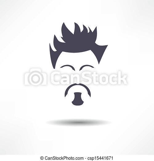 Face of a man with a beard - csp15441671