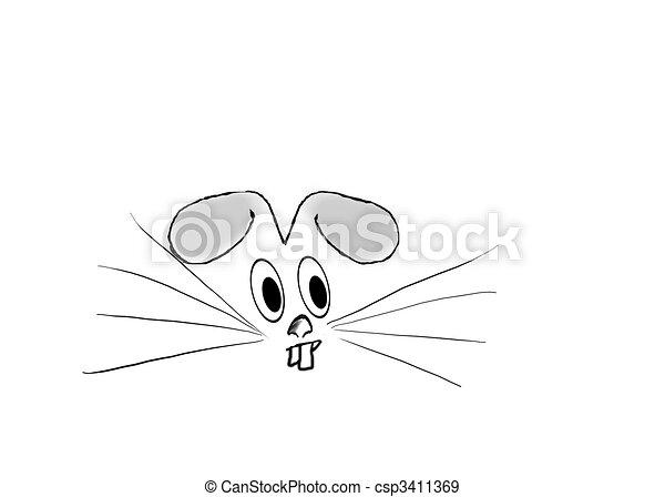 Face of a Rabbit - csp3411369