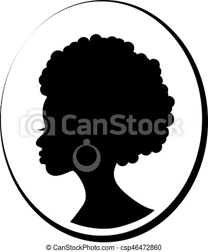Face Of African Black Woman In Profile Head In Profile Of