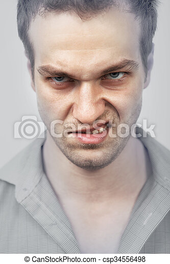 Face of angry man - csp34556498