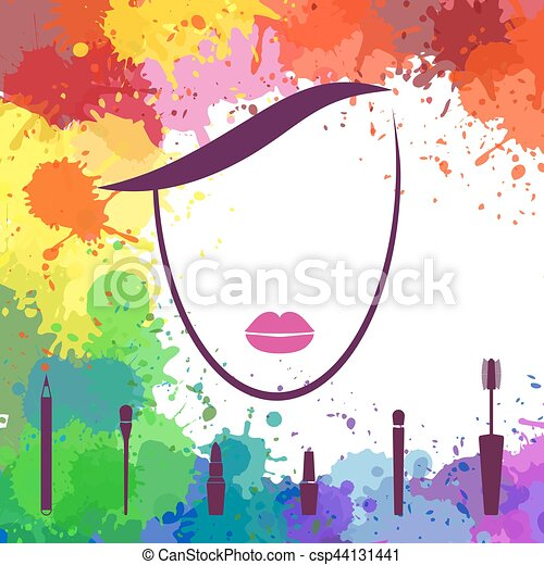 Face Of Beautiful Girl Fashion Icon Makeup Artist Logo Template Woman