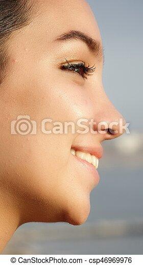 Face Of Hispanic Girl - csp46969976
