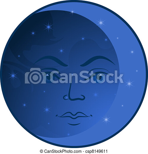 Face of the Moon - csp8149611