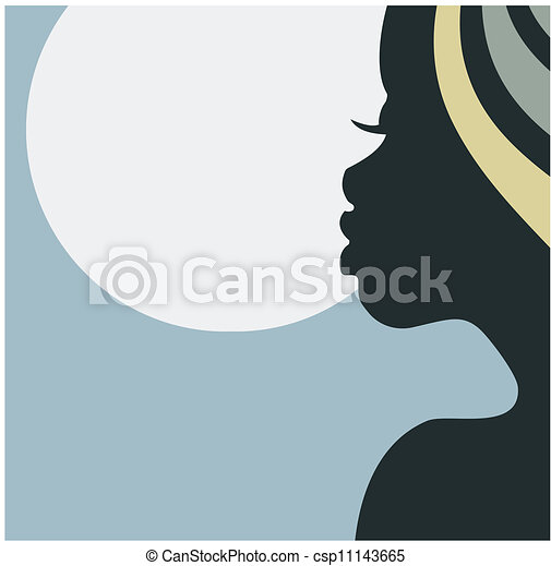 Face profile of African woman - csp11143665