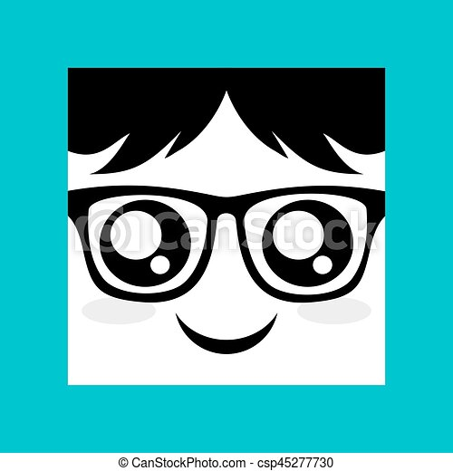 face with glasses icon - csp45277730