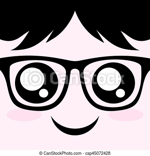 face with glasses - csp45072428