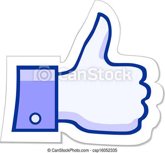facebook like it button like it thumb up button vector eps 10 rh canstockphoto com facebook like button vector download facebook like button vector download