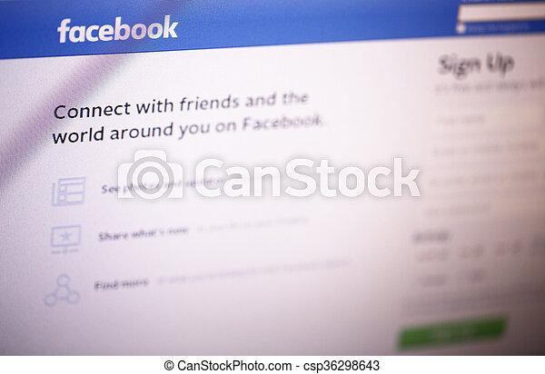 facebook, página principal - csp36298643