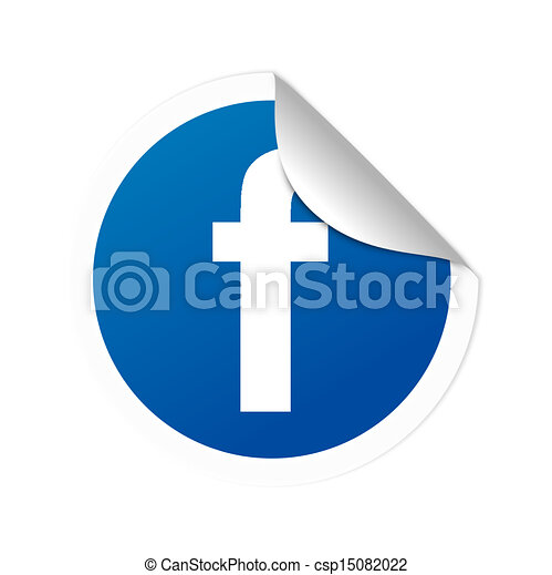 facebook sticker vector illustration search clipart drawings and rh canstockphoto com facebook clip art images facebook clip art free images