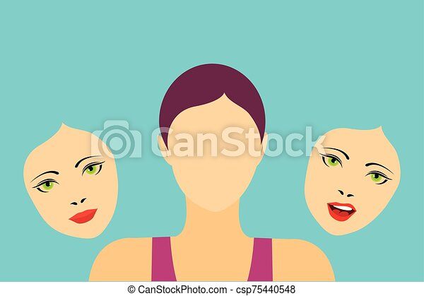 Faceless woman - csp75440548