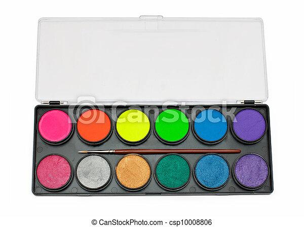 facepaint palette and brush - csp10008806