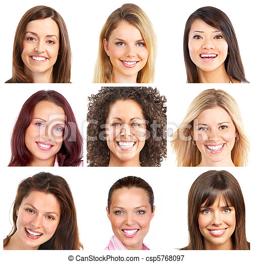 faces, smiles and teeth - csp5768097
