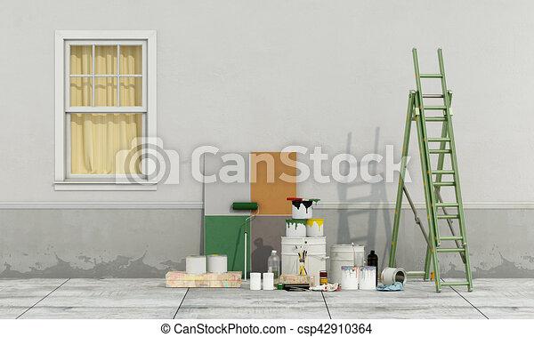 fachada, antigas, renovação - csp42910364