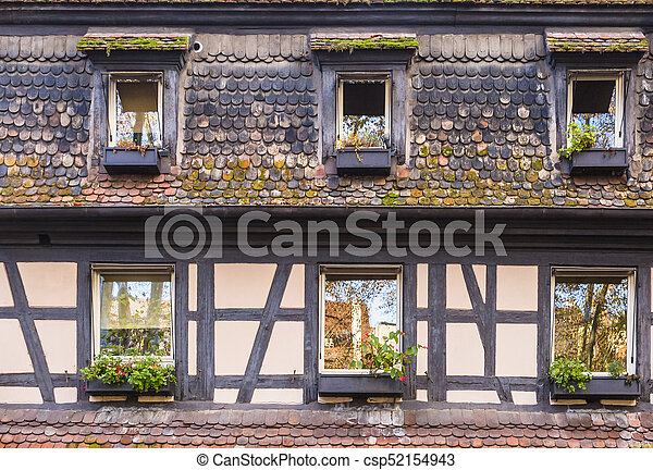 Fachada casa alsaciano meio timbered house detalhe for Fachada tradicional