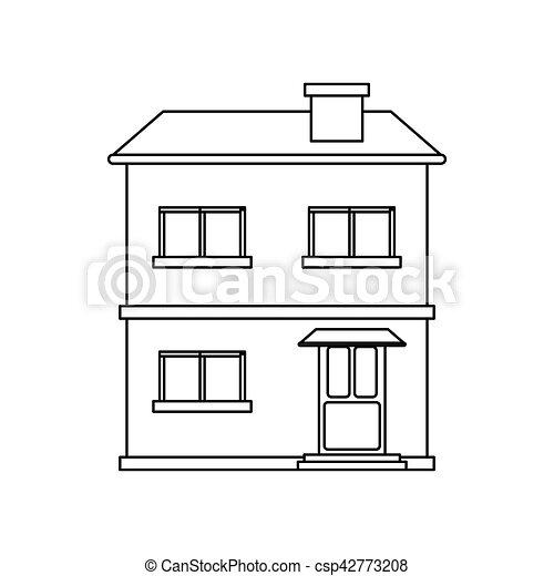Fachada casa contorno estructure residencial 10 for Fachadas de casas modernas para colorear