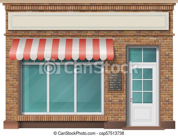 La fachada de la tienda de ladrillos - csp57513738