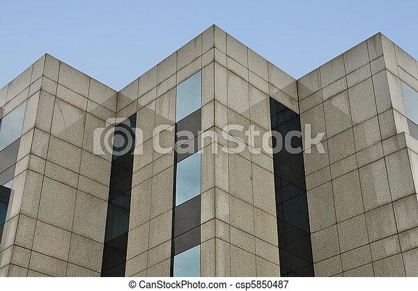 Esquinas modernas de fachada - csp5850487