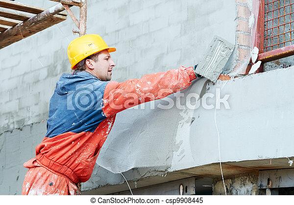 Constructor en obras de yeso de fachada - csp9908445
