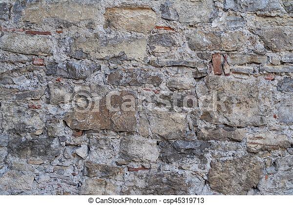Fachada, pared, exterior, plano de fondo, textura. Piedra ...