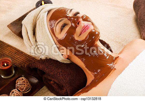 Facial Chocolate Mask. Spa - csp13132818