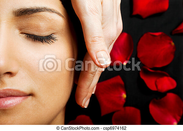 Facial energy massage - csp6974162
