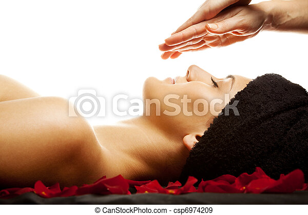 Facial energy massage - csp6974209