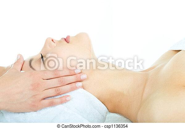 Facial massage - csp1136354