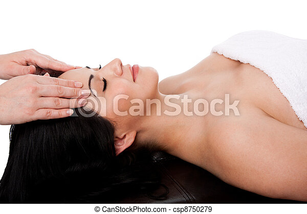 Facial massage treatment - csp8750279