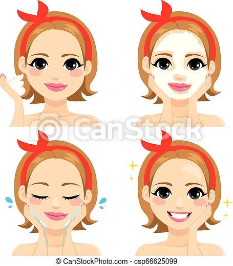 Tratamiento de belleza facial - csp66625099