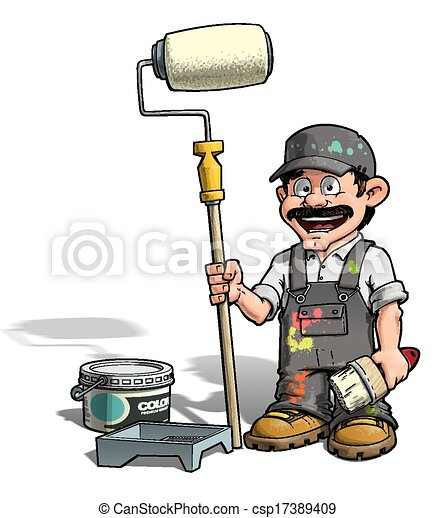 Handyman, pintor - csp17389409