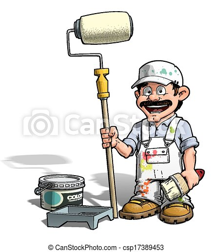 Handyman, pintor - csp17389453
