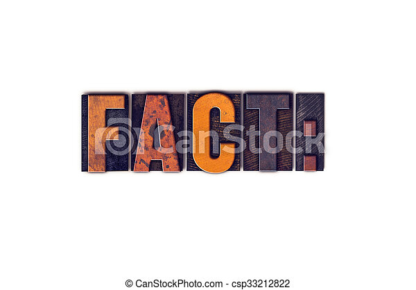 Fact Concept Isolated Letterpress Type - csp33212822